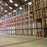 El racks penetrable y el almacenamiento industrial