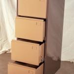 Archivo de 4 cajones (cajones abiertos)