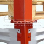 El rack autoestibable es compatible con las medidas de los pallets normalizados
