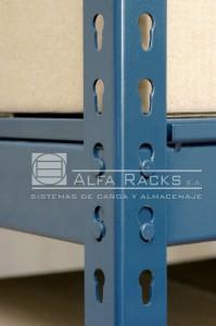 El sistema de encastre permite el armado sin utilizar tornillos y tuercas