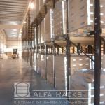 Con el uso del rack penetrable el depósito brinda almacenamiento eficiente