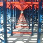 Rack penetrable: vista en profunidad de la vista lateral