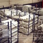 Vista superior racks de carga textil