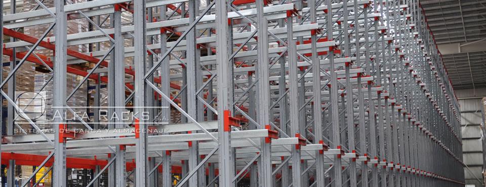 El sistema de Racks Penetrables permite aprovechar el espacio al máximo, evitando los pasillos