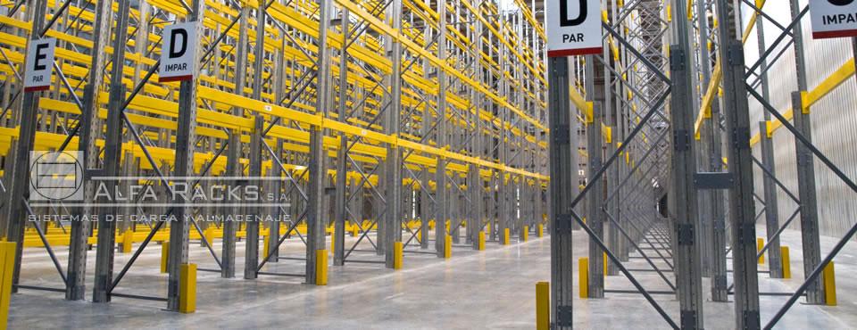 El sistema de Racks Selectivos de Alfa Racks S.A. ofrece la solución ideal para resolver el almacenamieto
